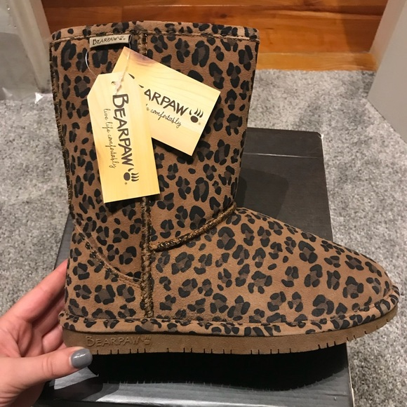554901bfc35b BearPaw Shoes | Brand New Bear Paw Leopard Print Boots | Poshmark